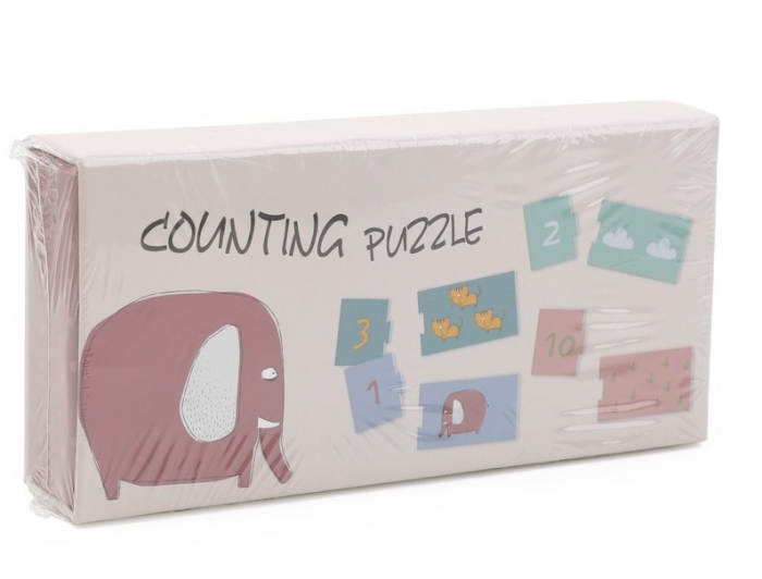 Invat sa numar de la 1 la 10, puzzle educativ 4