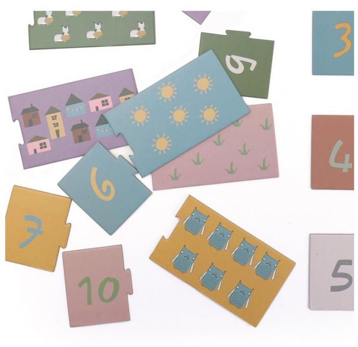 Invat sa numar de la 1 la 10, puzzle educativ 1
