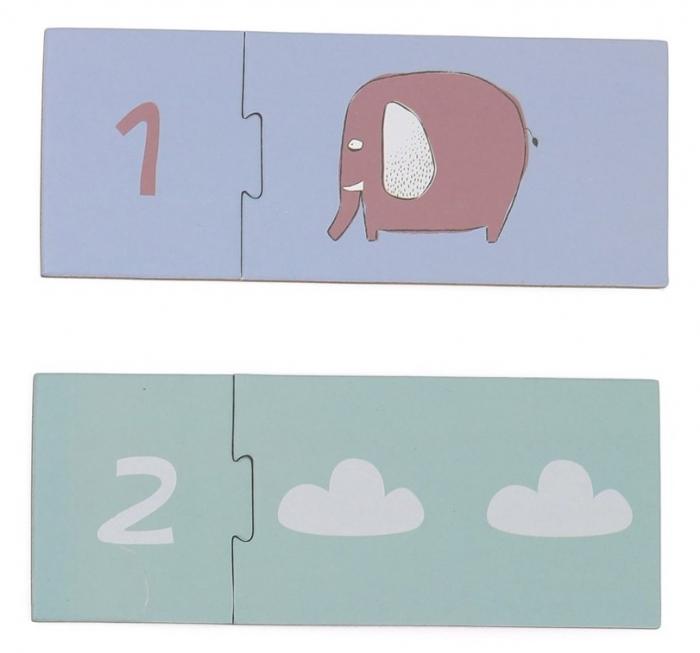 Invat sa numar de la 1 la 10, puzzle educativ 2