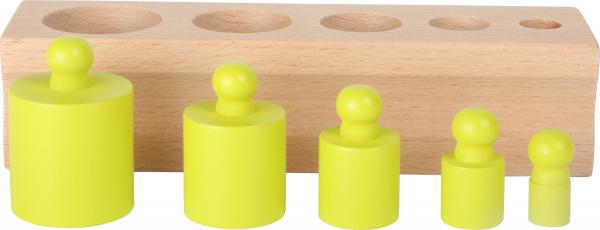 Joc cilindri colorati Montessori 3