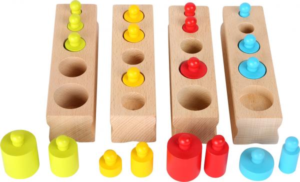 Joc cilindri colorati Montessori 0