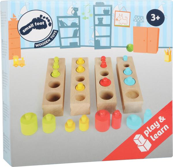 Joc cilindri colorati Montessori 2