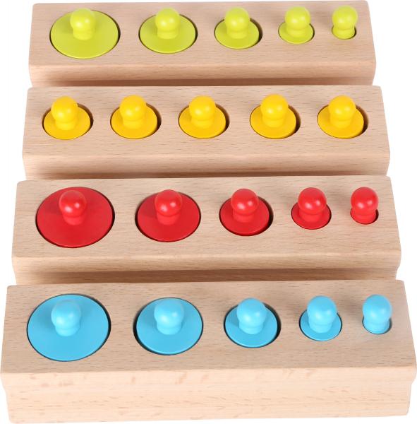 Joc cilindri colorati Montessori 1