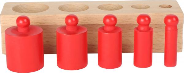 Joc cilindri colorati Montessori 4