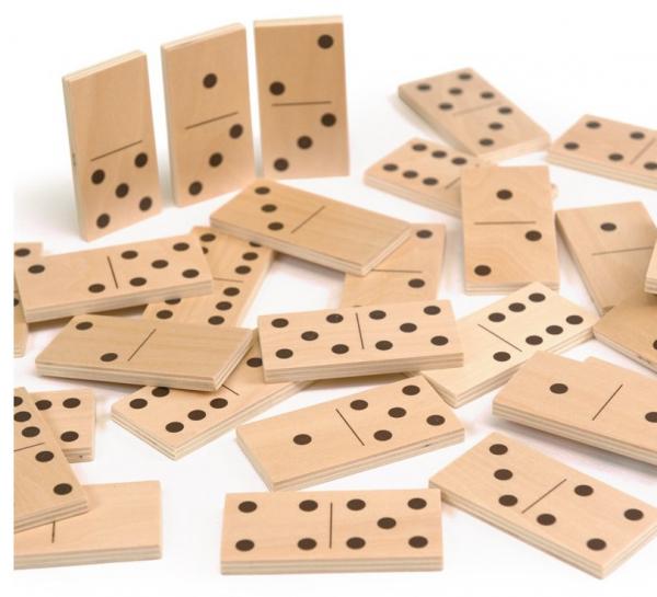 Joc de lemn 2 in 1, puzzle domino cu animale 1