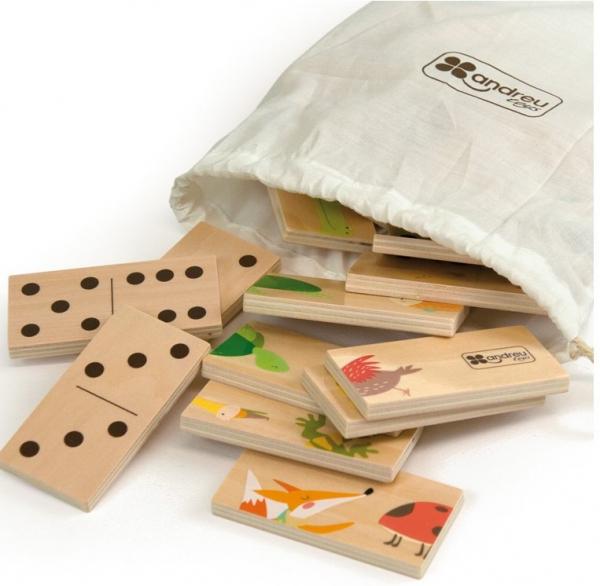 Joc de lemn 2 in 1, puzzle domino cu animale 2