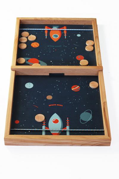 Joc de exterior din lemn Duelul Spatial [0]