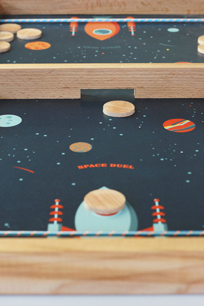 Joc de exterior din lemn Duelul Spatial [1]