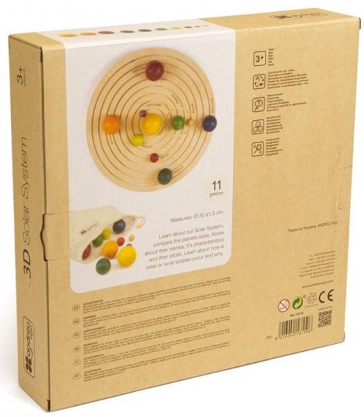 Sistemul solar 3D, joc educativ din lemn 5
