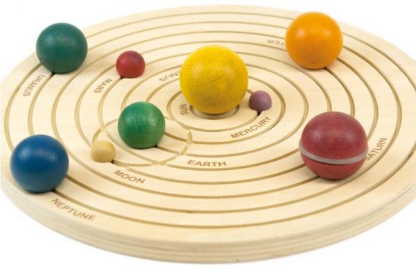 Sistemul solar 3D, joc educativ din lemn 0