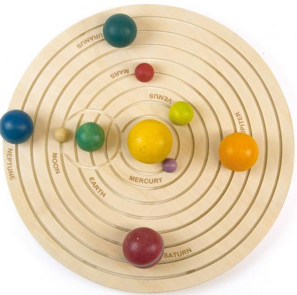 Sistemul solar 3D, joc educativ din lemn 2