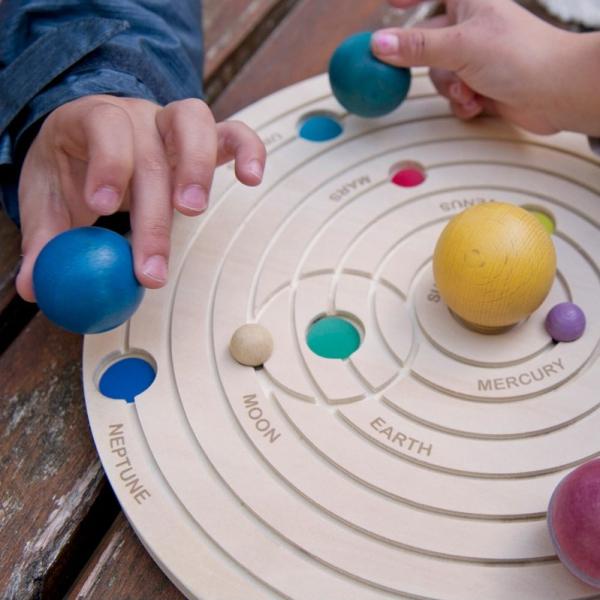 Sistemul solar 3D, joc educativ din lemn 7