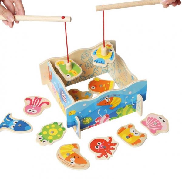 Joc Pescuitul distractiv, din lemn 0