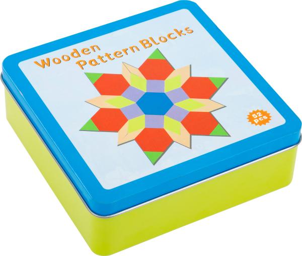 Joc Puzzle Tangram Multicolor din lemn 3