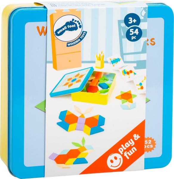 Joc Puzzle Tangram Multicolor din lemn 2