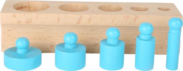 Joc cilindri colorati Montessori 5