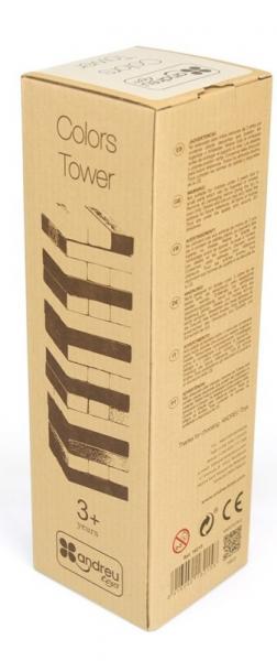 Joc Turnul colorat din lemn cu 48 de piese, Jenga, pentru 2 jucatori 3