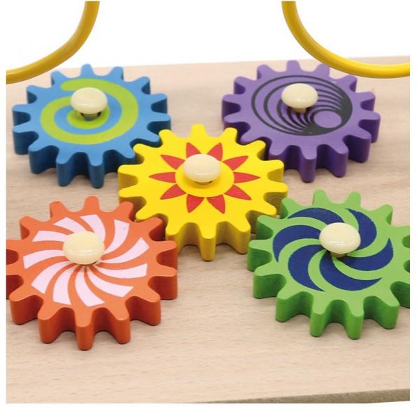 Jucarie cu 3 circuite cu activitati educative, Margelele  fructate. 2