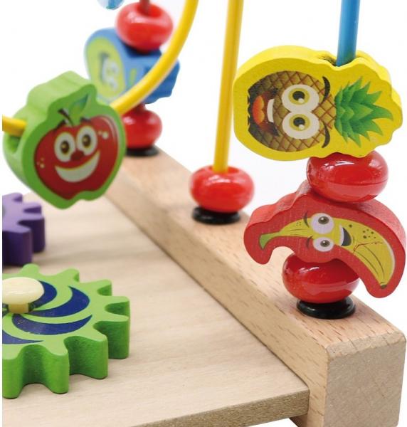 Jucarie cu 3 circuite cu activitati educative, Margelele  fructate. 1