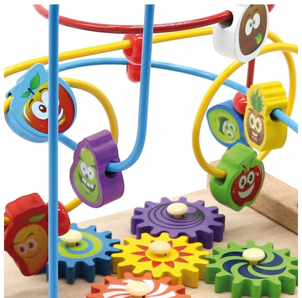 Jucarie cu 3 circuite cu activitati educative, Margelele  fructate. 3