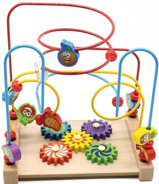 Jucarie cu 3 circuite cu activitati educative, Margelele  fructate. 4
