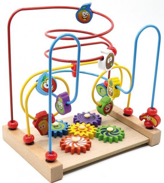 Jucarie cu 3 circuite cu activitati educative, Margelele  fructate. 0