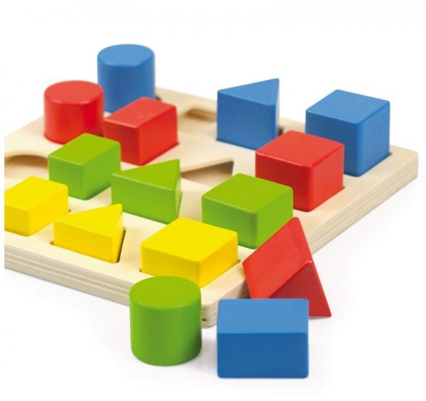 Jucarie educativa 4 forme, 4 culori, 4 marimi 4