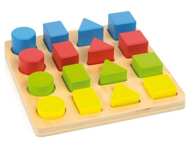 Jucarie educativa 4 forme, 4 culori, 4 marimi 5