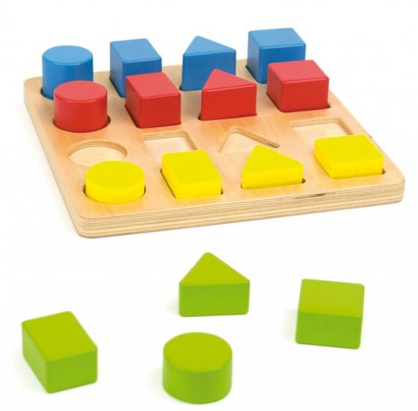 Jucarie educativa 4 forme, 4 culori, 4 marimi 0
