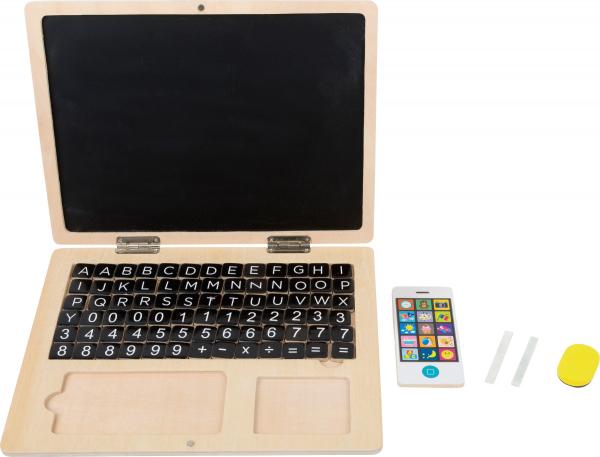 Laptop din LEMN Scriem si Socotim, cu tablita magnetica 1