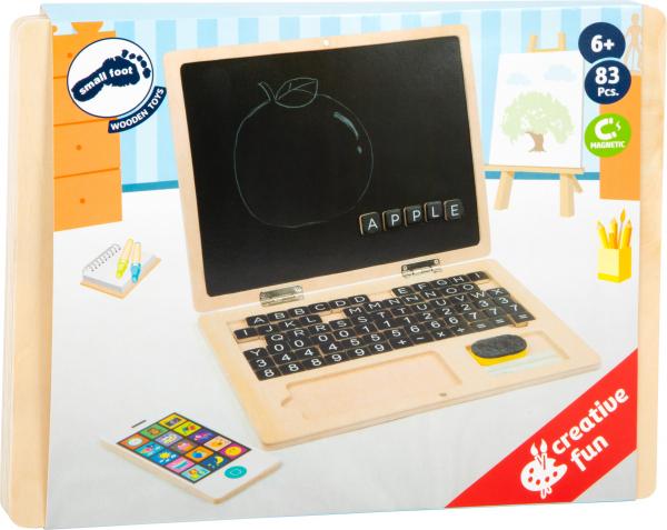 Laptop din LEMN Scriem si Socotim, cu tablita magnetica 2
