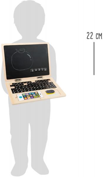 Laptop din LEMN Scriem si Socotim, cu tablita magnetica 3
