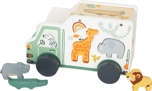 Camion de transport si potrivire forme Safari in culori pastelate 1