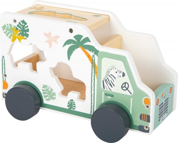Camion de transport si potrivire forme Safari in culori pastelate 2