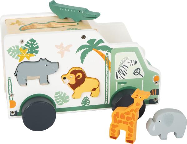 Camion de transport si potrivire forme Safari in culori pastelate 0