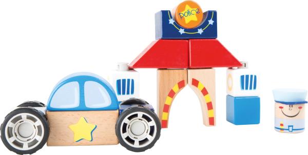 Masina de politie - set de construit din lemn [0]
