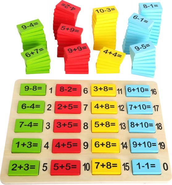 Matematica distractiva, joc educativ din lemn 0