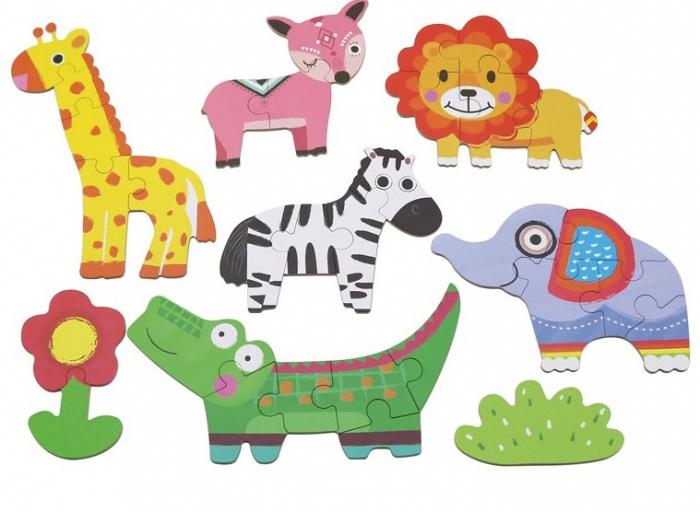 Cutiuta cu 6 puzzle-uri Animale Salbatice [3]