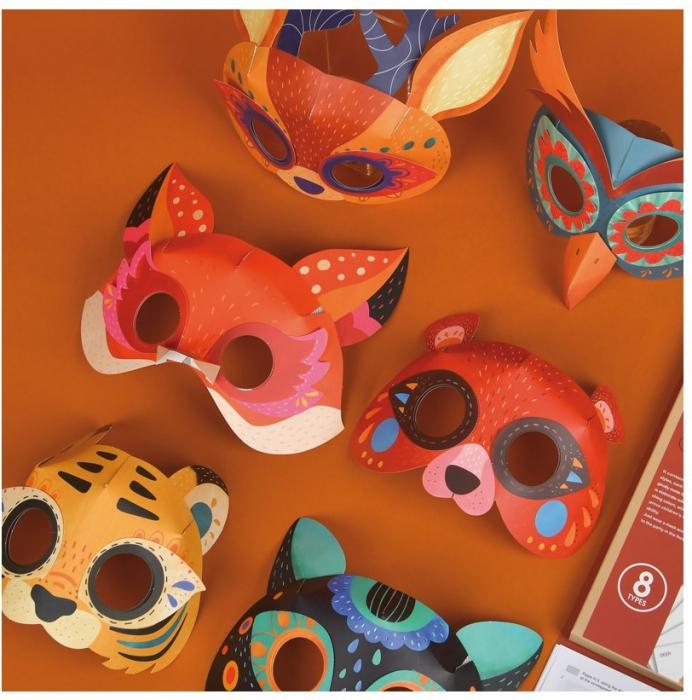 Set creatie Masti din Hartie 3D cu animale [1]