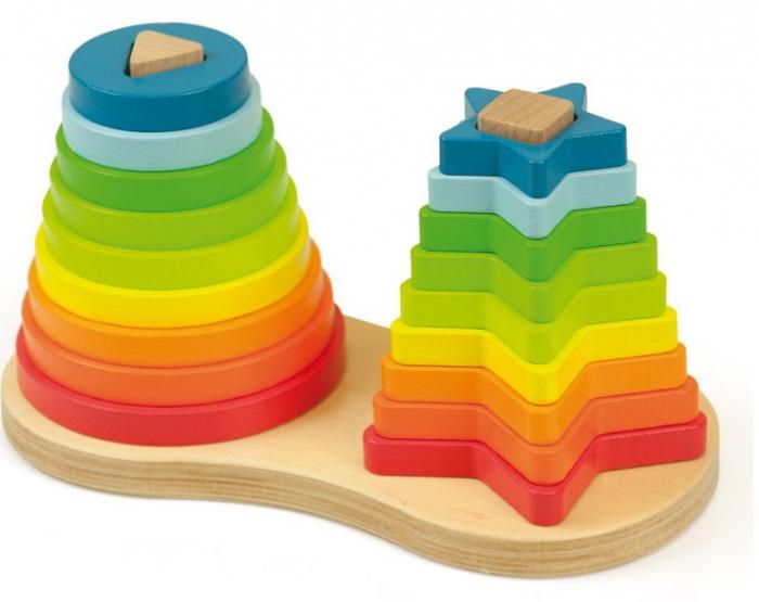 Set piramide curcubeu Montessori [0]