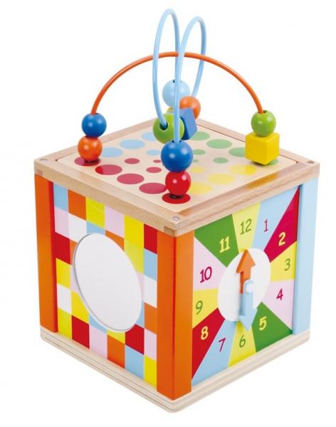 Zarul cu activitati, cub din lemn 2