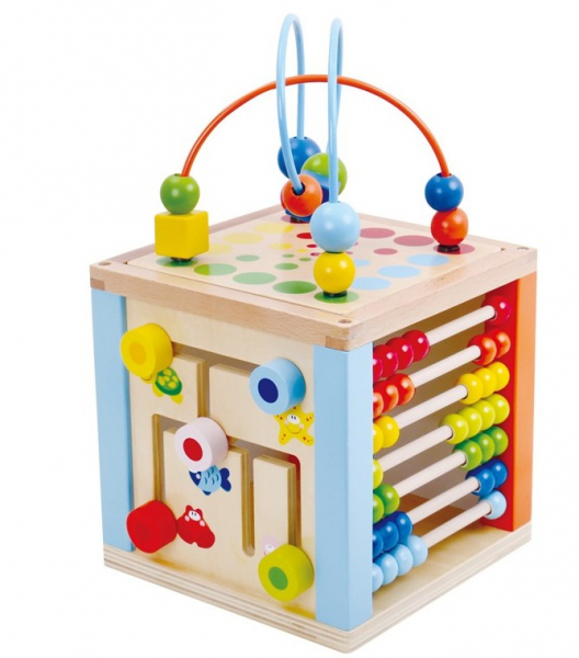 Zarul cu activitati, cub din lemn 0