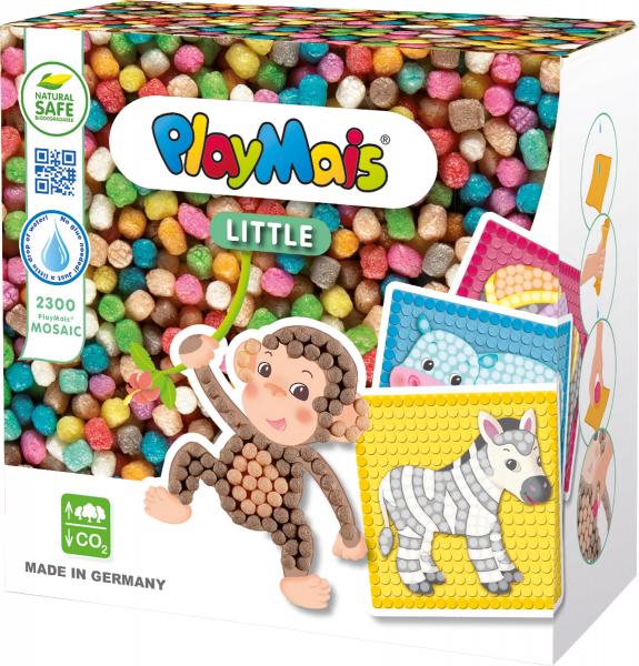 Pufuletii PlayMais® MOSAIC LITTLE, Set de creatie Animale de la ZOO 0