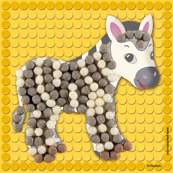 Pufuletii PlayMais® MOSAIC LITTLE, Set de creatie Animale de la ZOO 1