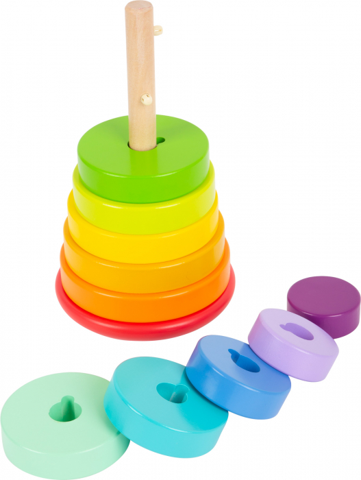 Potriveste Formele, joc din lemn curcubeu varianta XL [0]