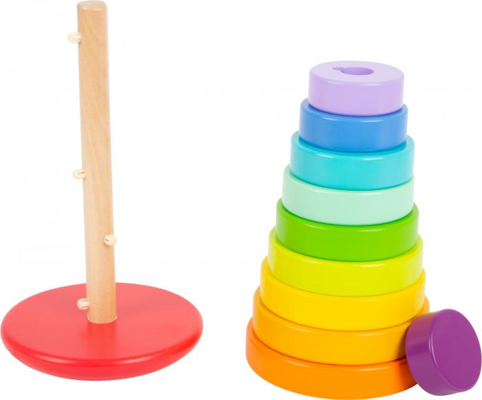 Potriveste Formele, joc din lemn curcubeu varianta XL [1]