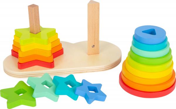 Potriveste Formele, joc din lemn curcubeu 1