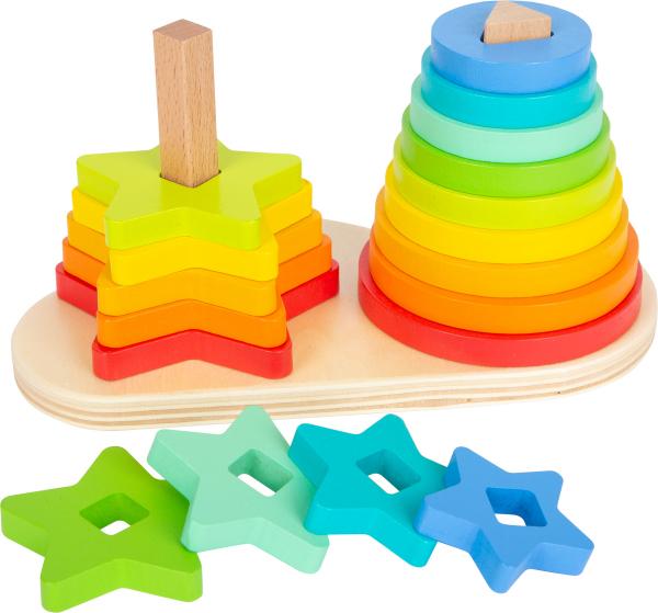 Potriveste Formele, joc din lemn curcubeu 0