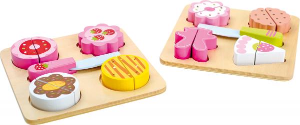 Prajiturile delicioase din lemn, cutie cu 2 seturi 1