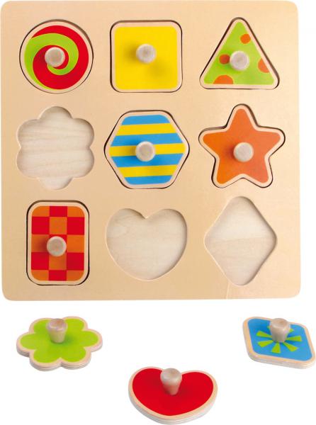 Puzzle 9 Forme cu butoane 0